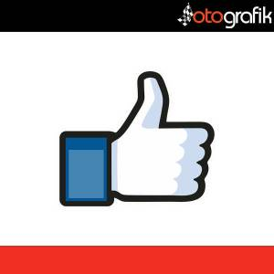 OTOGRAFİK - FACEBOOK LIKE DISLIKE RENKLİ OTO STICKER