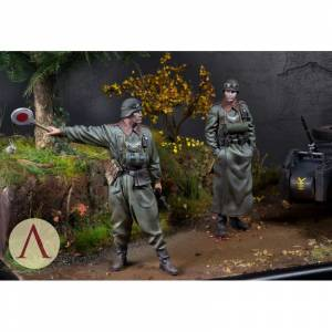 75 mm Scale75 SCW 010 WWII Alman Barbarossa Feldgendarmerie BMW R75 Resin ve Metal Diaroma Kiti