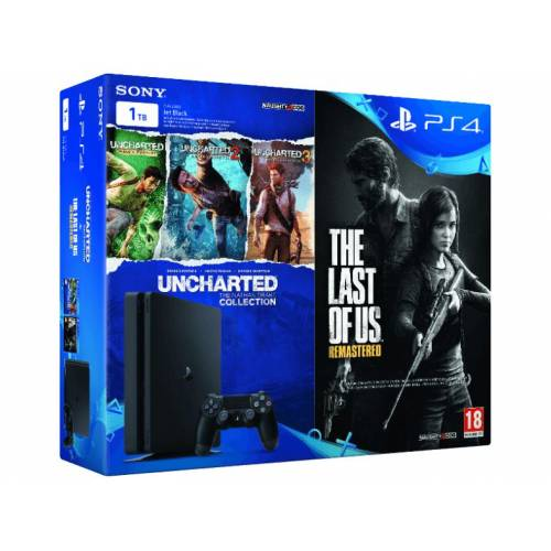SONY PlayStation 4 1 TB + Uncharted Collection + The Last Of Us Konsol Seti