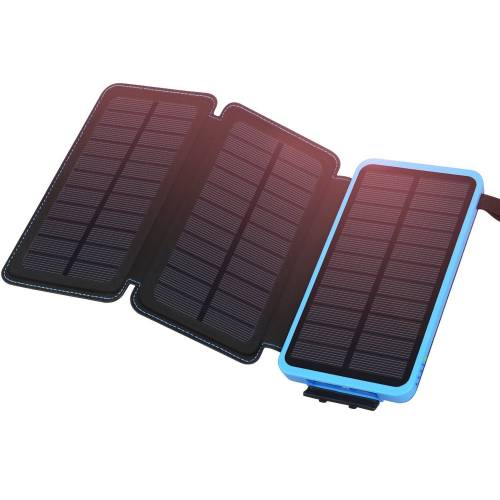 Solar Charger 24000mAh Waterproof Portable Charger, ADDTOP Power Bank with 3 Solar Panels 324635583