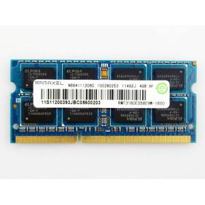 4Gb RAMAXEL PC3 DDR3 1600Mhz 12800S 1.5V HIGH VOLTAGE 16 ÇİPLİ LAPTOP NOTEBOOK NETBOOK RAM NO 4