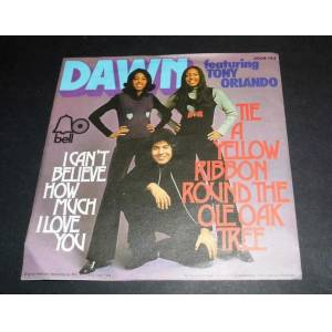 DAWN FEATURING TONY ORLANDO  I CANT BELIEVE HOW MUCH I LOVE YOU  45LİK PLAK