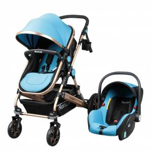 Norfolk Baby Voyage Air Luxury 5 in1 Travel Sistem Bebek Arabası - MAVİ