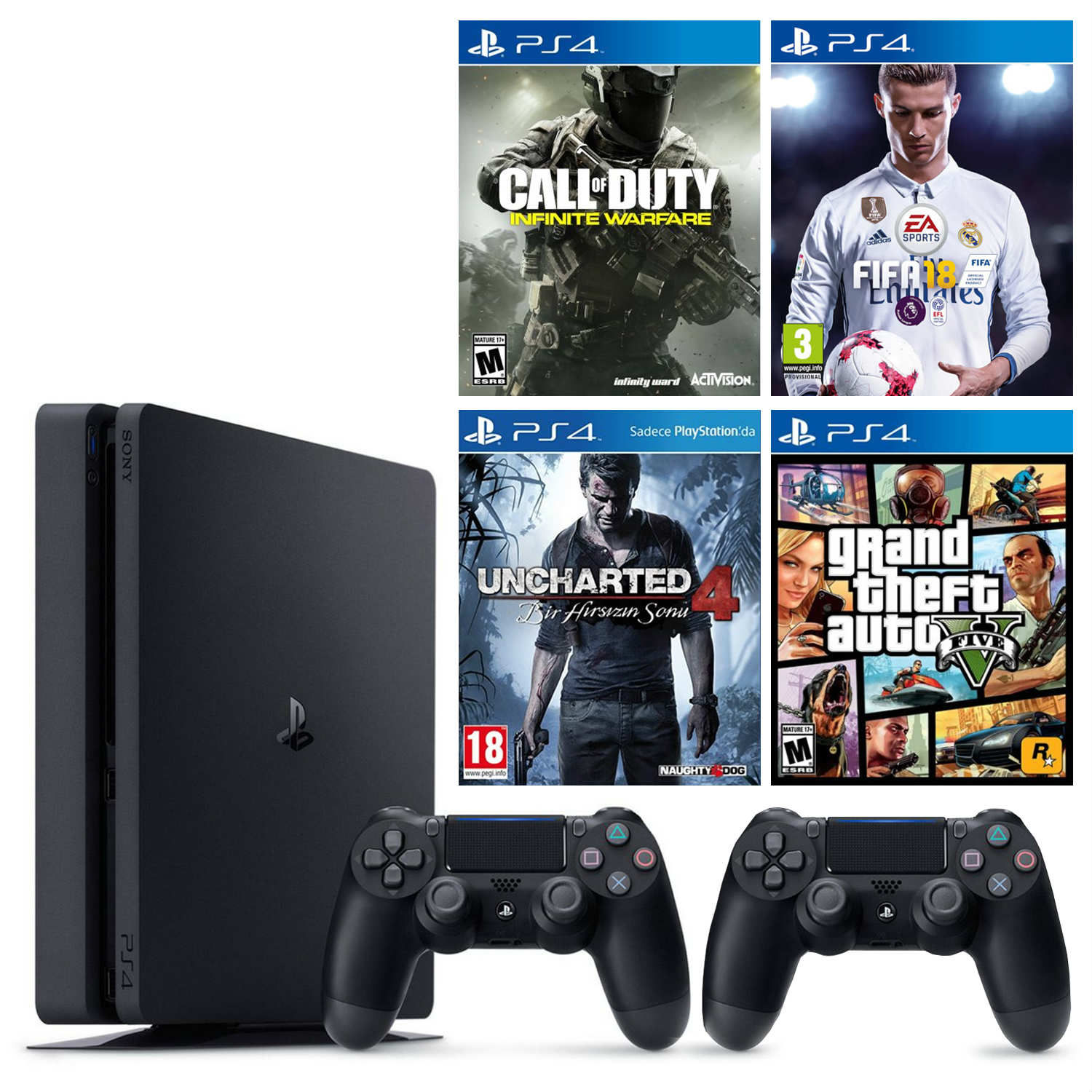 Playstation 4 Slim 1tb Cuh 2016b Cod Infinite Warfare Bundle Sony 1 Tb Systems Bundles Source Ps4 Konsol 2 Kol