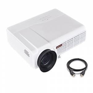 PRAVETTE Portable Projector 3800 Lumens Home Theater Mini Projector Support 4K HD Video1080P Movie