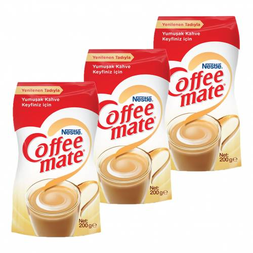 Nescafe Coffee Mate 200gr Ekopaket 3'lü Set