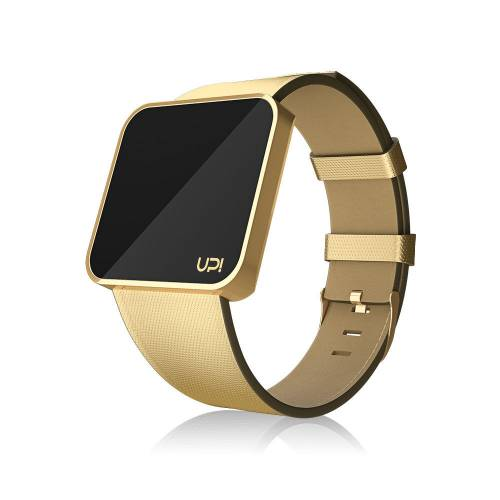 UPWATCH TOUCH SLIM Shiny Gold Leather
