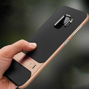 For Samsung Galaxy S9 Plus Kılıf Standlı Koruma lüx Hard Case tpu