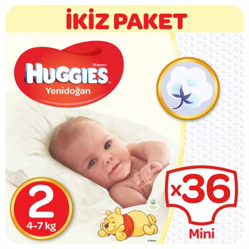 Huggies Mini 36 Adet 4-7 Kg 2 Beden