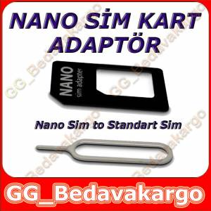 iPhone 5 5S 5C 6 Plus Nano Sim Kart Adaptör 2 Adet