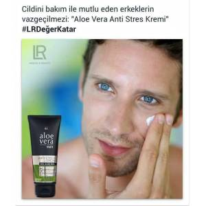 LR Aloe Vera Men Anti Stres Kremi 100 ml KARGO DAHİL
