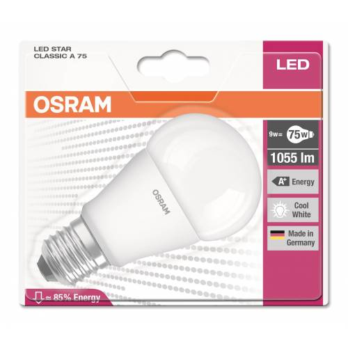 OSRAM LED STAR CLA 75/4000K KIRIK BEYAZ IŞIK LAMBA /MADE IN GERMANY
