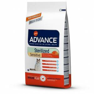 Advance Sterilized Sensitive Salmon Kısır Kedi Maması 15 kg