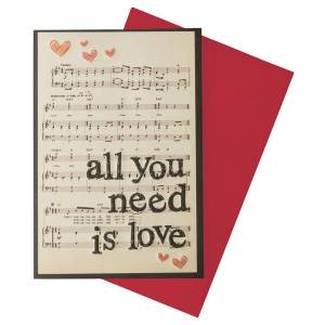 Legami All You Need Is Love Kart K054181  Legami