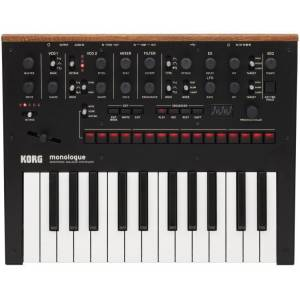 Korg Monologue Siyah Analog Synthesizer