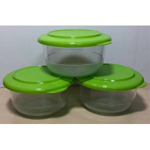 Tupperware kristalin 450 ml kase 3 lü set  görseldeki renk
