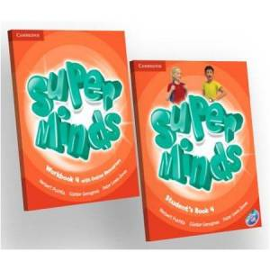 Cambridge Super Minds 4 Students Book and Workbook