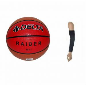 Delta Raider Basketbol Topu No 7 + Basket Kolluğu Indoor (salon) & Outdoor (dış saha) Basket Topu