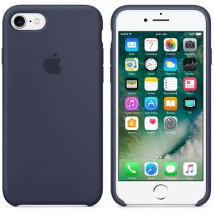 iPHONE 7-8 SILICONE CASE GECE MAVİSİ