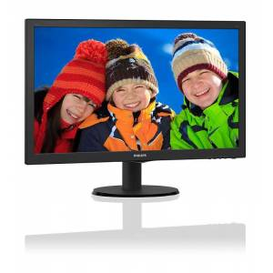 PHILIPS 2361920x10801ms60Hz2Wx2VGA-DVI-HDMISiyah Gam. Led Monitör 243V5LHAB5-00