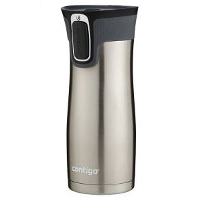 Contigo AUTOSEAL West Loop Vacuum Insulated Stainless Steel Travel Mug with Easy-Clean Lid 20 oz