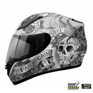 Mt Kask Mt Revenge Skull Rose Mat Sharp Test 5 Yıldız