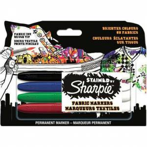 Sharpie Stained Tekstil Markör 4lü Blister - S0962141 Sharpie Tekstil Kalemi Ücretsiz Kargo