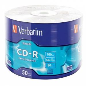 BOŞ CD Verbatim CD-R 700MB 80 Dakika 52X  50li CD Spindle