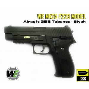 WE MK25 F226 MODEL SIYAH AIRSOFT TABANCA