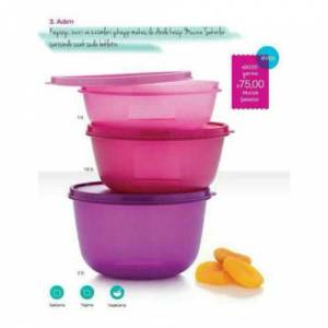 Tupperware mucıze sekerler 3 lu set