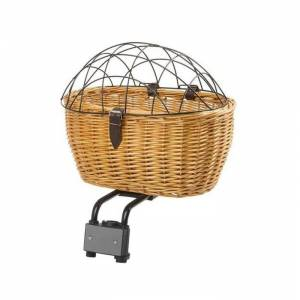 M-Wave Wicker Basket 2 in 1 With Kedi Köpek Hasır Sepet