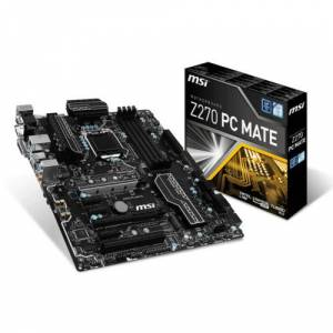 MSI 1151p Z270 DDR4 PC Mate Z270 5x Sata 2x M2 Sata HDMI DVI Intel HD Graphics 5x PCIe ATX