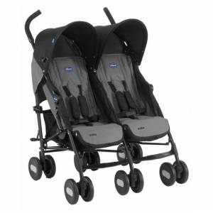 Chicco Echo Twin İkiz Baston Bebek Arabası  COAL