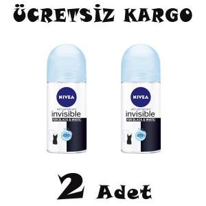 Nivea Invisible Black and White Pure Bayan Roll-On 50ml 2 ADET