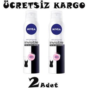 Nivea Invisible For Black and White Clear Bayan Deodorant Sprey 150ml 2 ADET