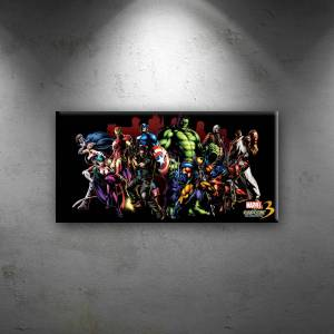 Marvel vs Capcom Süper Kahramanlar Kanvas Tablo 40cm x 80cm
