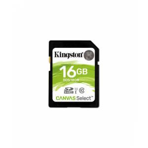Kingston 16GB SDHC Canvas Select 80R CL10 UHS-I Card