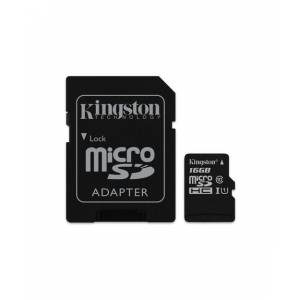 KINGSTON 16GB microSDHC Canvas Select 80R CL10 UHS-I Card  SD Adapter