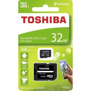 32 GB TOSHIBA EXCERIA MICRO SDHC UHS-1 CLASS 10 100MBSN THN-M203K0320EA