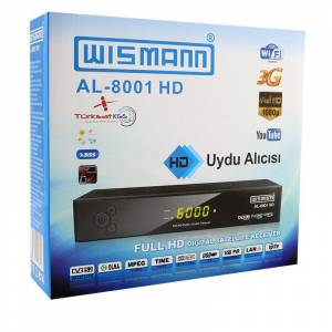 WİSMANN AL-8001HD FULL HD İNTERNET TV UYDU ALICISI WİFİ TV Wİ-Fİ TV Wİ Fİ TV BENSU PENDİK