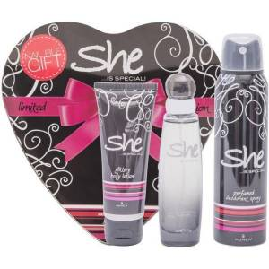 SHE IS SPECIAL BLACK EDT 50MLBODY LOTION 75MLDEODORANT 150ML