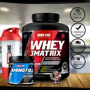 Hardline Whey 3 Matrix 2300 Gr Protein TozuAmino Full 300 Tablet