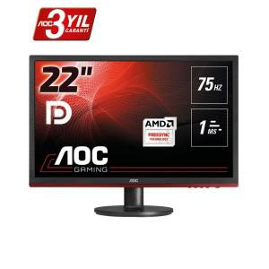 AOC G2260VWQ6 21.5 INC 75 Hz 1MS HDMI Full HD OYUNCU MONİTÖRÜ