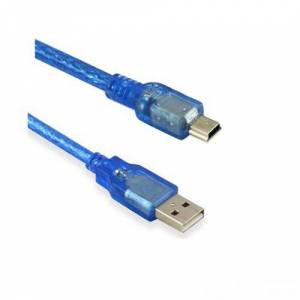 Ti-Mesh Usb 2.0 A Male Plug To Mini B Male Plug Otg Data Cable With Magnetic Ring - 5M
