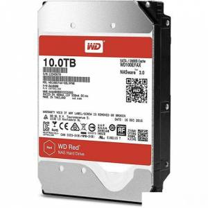 WD Red 10 TB SATA III 3,5 6Gbit/s IntelliPower 256MB Cache NAS 7/24 Disk WD100EFAX