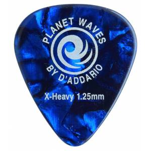 Planet Waves Classic Celluloid Blue Pearl X-Heavy 1.25mm - 1 Adet Pena