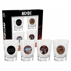 ACDC Shotglasses Set of 4 Shotglasses