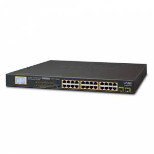 PL-GSW-2620VHP Yönetilemeyen Switch Unmanaged Switchbr24-Port 101001000Base-T  IEEE 802.3ataf PoE