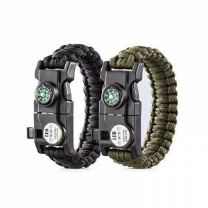 Paracord Survival 19 in 1 LED Işıklı Outdoor Bileklik