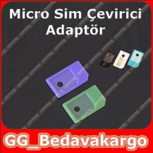 iPhone iPad Mikro Sim Kart Adaptörü Plastik 2ad